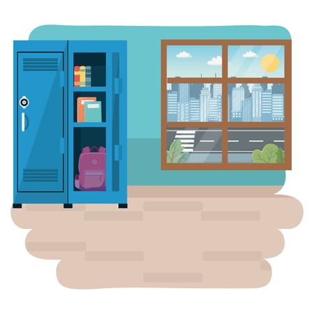 Classroom of school design vector illustration