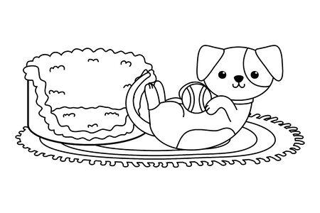 Dog cartoon design, Mascot pet animal nature cute and puppy theme Vector illustration Stock Vector - 134856006