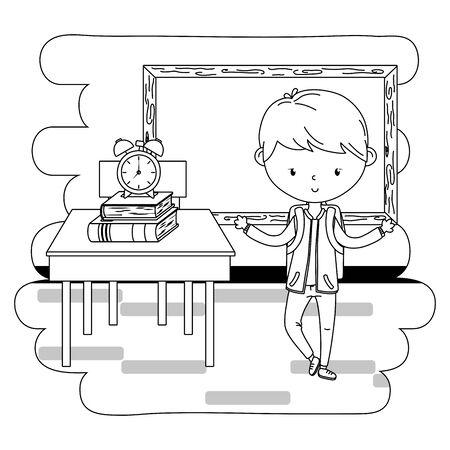Teenager boy cartoon design