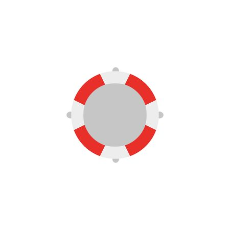 lifeguard float protection flat icon vector illustration design