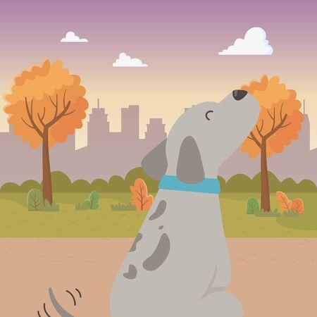 Dog cartoon design, Mascot pet animal nature cute and puppy theme Vector illustration Stock Vector - 134856370