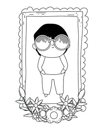 Grandfather cartoon vector design vector illustration