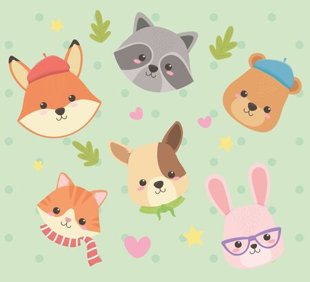 cute and little characters vector illustration design