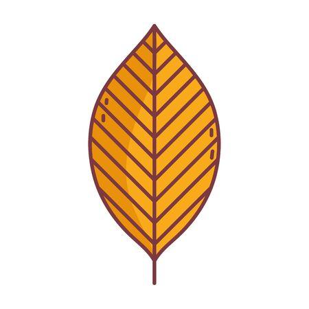 leaf hello autumn design icon