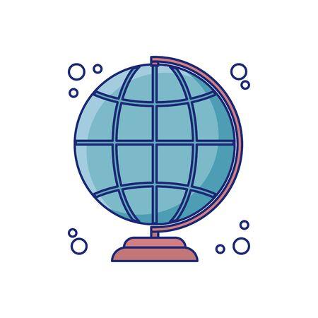 school globe detail style icon Иллюстрация