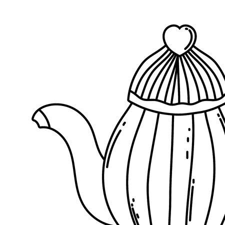 Coffee pot design, Drink breakfast beverage bakery restaurant and shop theme Vector illustration Illustration