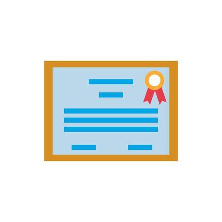 emblem certificate flat style icon vector illustration design Ilustracja