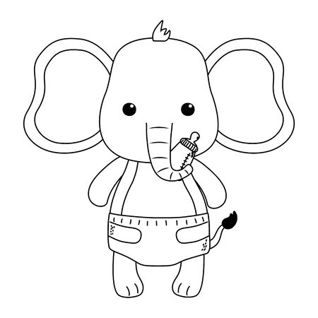 Isolated baby elephant cartoon design Foto de archivo - 134872630
