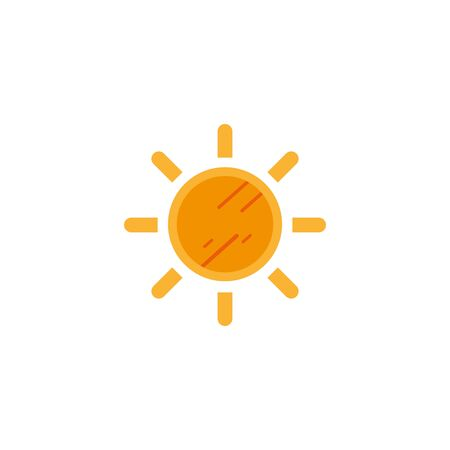 sun hot flat style icon vector illustration design Ilustracja
