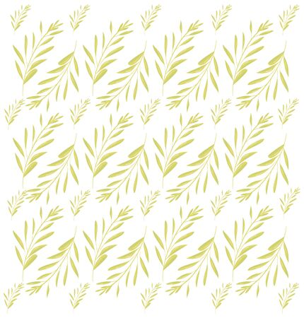 branch with leafs plant pattern vector illustration design Stock Illustratie