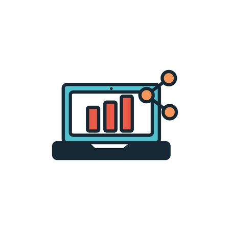 laptop computer fill style icon vector illustration design