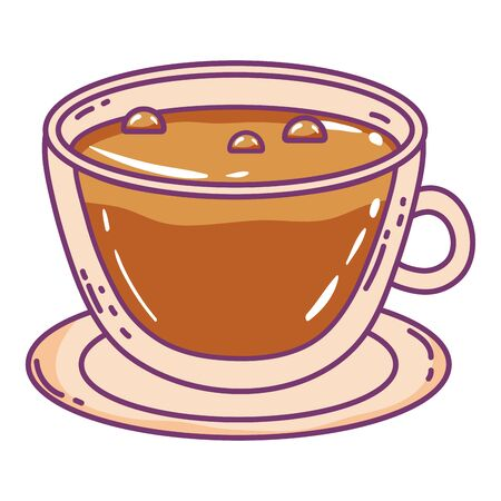 Isolated coffee cup vector design