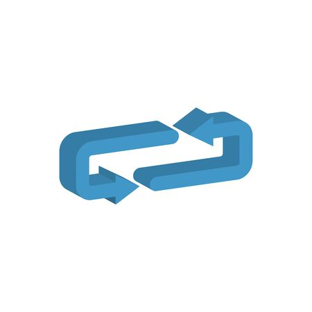 arrows around 3d style icon vector illustration design