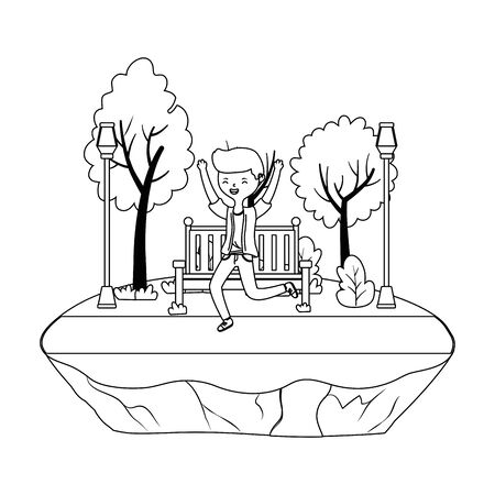 Teenager boy cartoon design vector illustrator Stock Illustratie