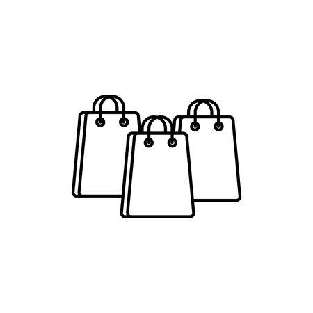 paper bags commerce shopping line image icon illustration Ilustração