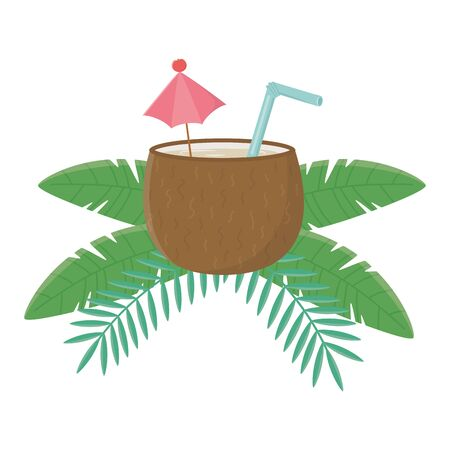 Isolated coconut cocktail design vector illustration