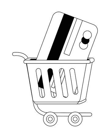 Cart design, Store shopping online ecommerce media market and internet theme Vector illustration