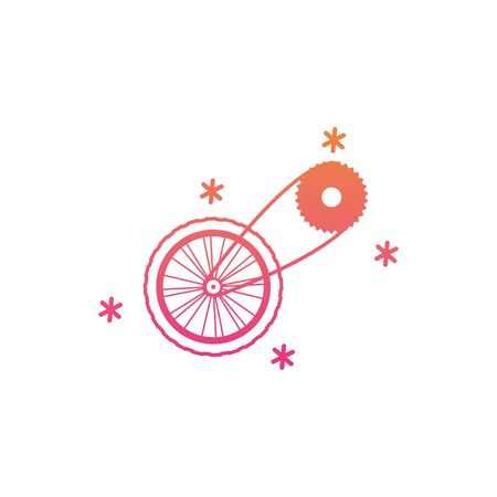 cycling pedal icon design, Vehicle bicycle bike lifestyle sport and transportation theme Vector illustration