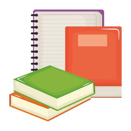 text book and notebook school supplies vector illustration design 版權商用圖片 - 134897575