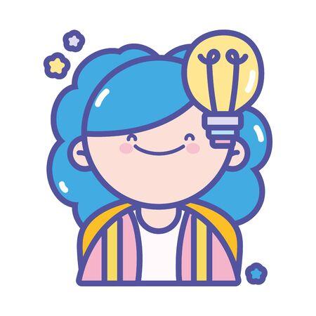 back to school student girl creativity idea