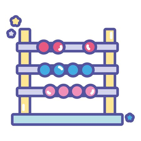 back to school education abacus arithmetic learn vector illustration