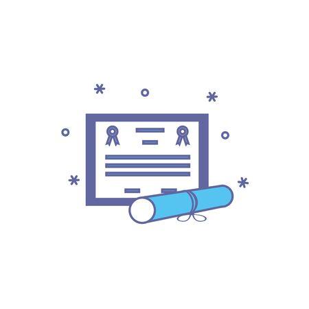 certificate emblem fill style icon vector illustration design