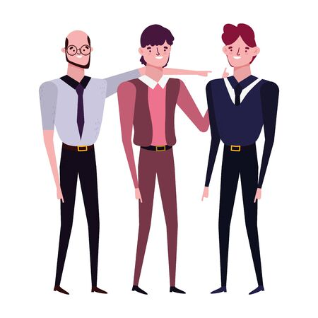 Avatar men design, Boy male person human and attractive theme Vector illustration