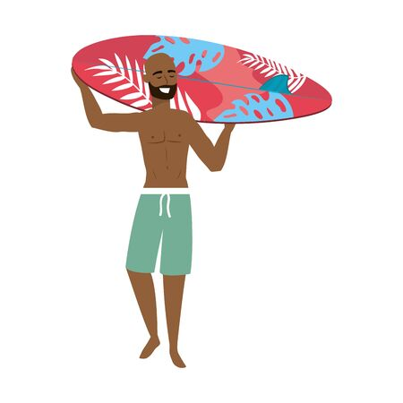 Boy with summer swimwear design