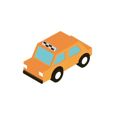 transport taxi public vehicle isometric icon vector illustration Standard-Bild - 135012506