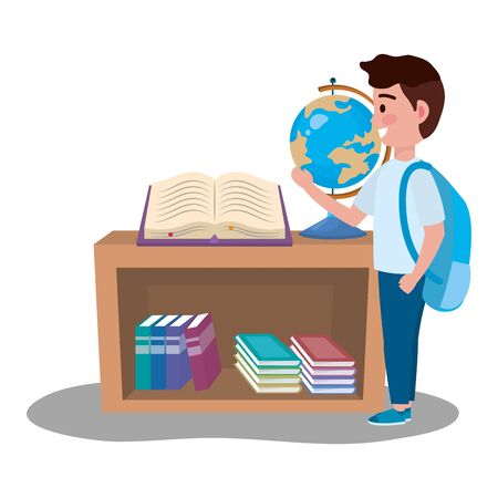 Boy kid design, School education learning knowledge study and class theme Vector illustration