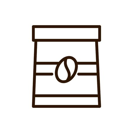 coffee bag market line design