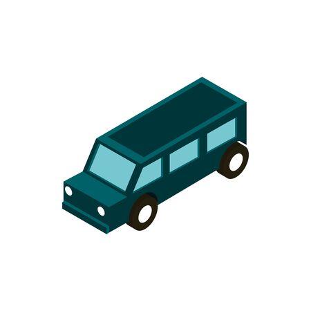 transport standard suv vehicle isometric icon vector illustration 向量圖像