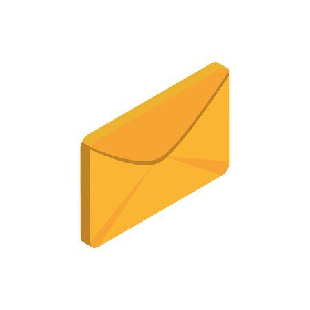 email advertising commerce marketing icon isometric