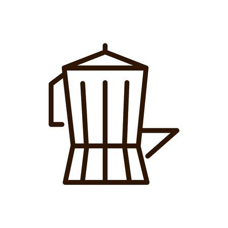 moka maker pot coffee line design vector illustration Vettoriali