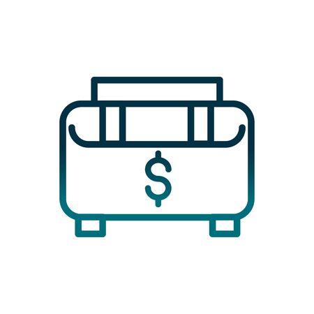 economy business briefcase money gradient line