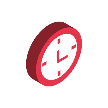 ecommerce business internet clock time speed service icon vector illustration isometric Ilustração
