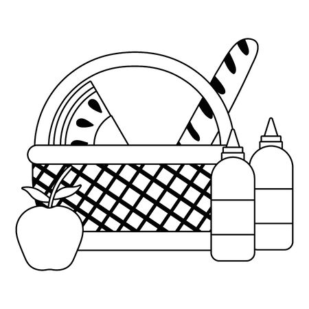 Isolated picnic basket design vector illustration Foto de archivo - 135431729