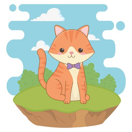 Cat cartoon design, Mascot pet animal domestic cute life nature and fauna theme Vector illustration