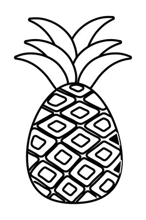 Pineapple with leaves design, Fruit healthy organic food sweet and nature theme Vector illustration Foto de archivo - 135432180