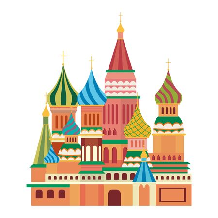 Saint Basil s Cathedral design, Travel trip vacation tourism and journey theme Vector illustration Ilustracja