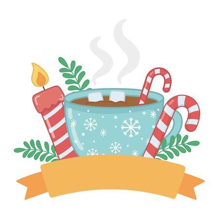 Merry christmas cup vector design Illusztráció
