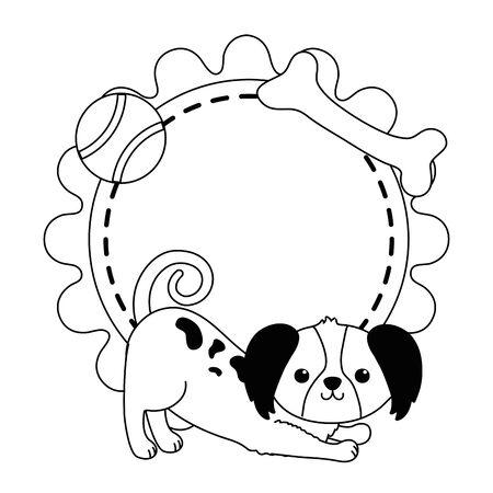 Dog cartoon design, Mascot pet animal nature cute and puppy theme Vector illustration Stock fotó - 135479785