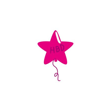 balloons helium in shape star detailed style vector illustration design