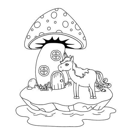 Isolated unicorn cartoon design vector illustration