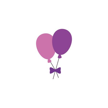 balloons helium air detailed style vector illustration design Çizim