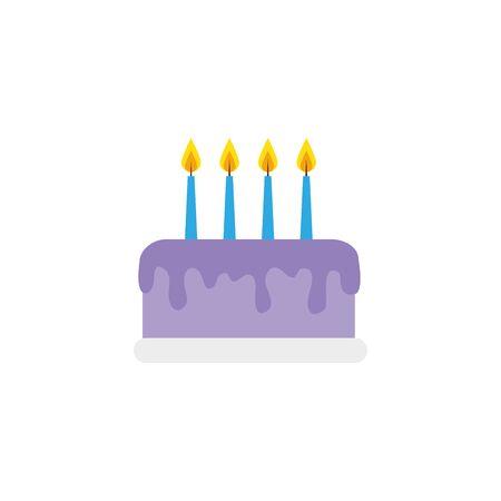 delicious cake birthday detailed style icon vector illustration design Illusztráció