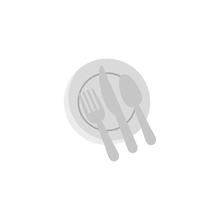 kitchen dish and cutleries flat style icon vector illustration design