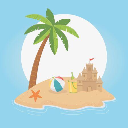 Palm tree of summer season design Illustration