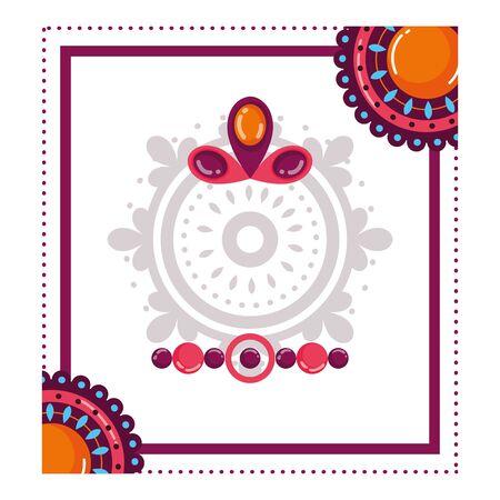 Amulet of bohemia concept vector design Ilustração