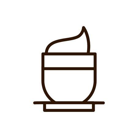 coffee cup cappuccino cream dish line design